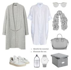 """""""Identify the essential"""" by fashionlandscape ❤ liked on Polyvore featuring Violeta by Mango, Acne Studios, Givenchy, Fendi, ADAM and Larsson & Jennings"""