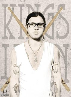 Nathan Followill - Kings of Leon Illustration by Laura Hickman