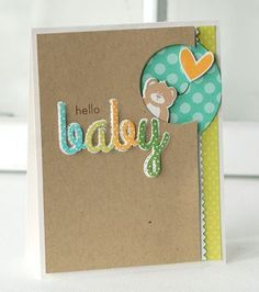 Hello Baby Card by Betsy Veldman for Papertrey Ink (May 2013)