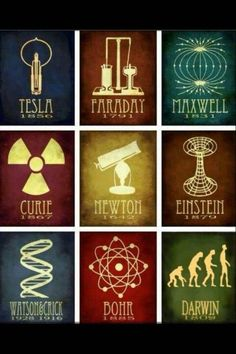 """Nikola Tesla 1850: """"Tesla Coil"""" electrical resonant transformer Micheal Faraday 1791: """"electrolysis"""" direct electric current (DC current) James Maxwell 1831: Magnetic field Marie Curie 1807: radio activity Issac Newton 1642: Astronomy  Albert Einstein 1879: space/time theory James Watson &  Francis Crick 1928/1916: DNA Neils Bohr 1885: Atomic model Charles Darwin 1809: Evolution"""