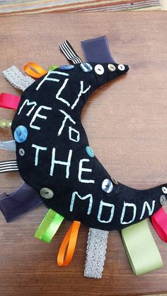 Hand held fidget Taggy.   Sing along with me .... Fly me to the moon.  UK fidget ladies March 2015