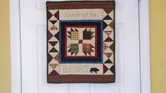 Watch out for Bears 18 X 22 primitive folk art by quiltingcafe, $100.00