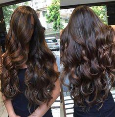 Pin by nicole burns on hair & makeup in 2019 каштановые воло Brown Hair Balayage, Hair Highlights, Color Highlights, Gorgeous Hair, Beautiful, Long Wavy Hair, Brunette Hair, Rapunzel, Hair Looks