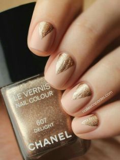 Nude + gold.