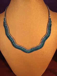 Rhinestone turquoise necklace