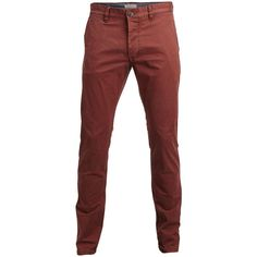 Selected Shluca - Rum Raisin - Regular Fit Chinos ($65) ❤ liked on Polyvore featuring mens, men's clothing, men's pants, men's casual pants and rum raisin