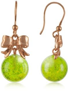 Naoto  Green Drop Earrings