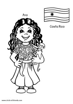 Free Printable Coloring Page Kids From Around The World 003 Cartoons
