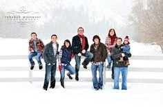 Lots of great large family poses in this shoot. In love with everyone of them -- and they're in the snow and were done in 30mins! TALENT!