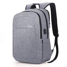 New SOCKO Laptop Backpack w  USB Charging Port 2d1537454f2f8