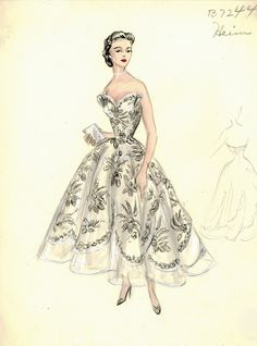 Bergdorf Goodman Archives. Cocktail & Evening Dresses 1950-69  I wish we could wear dresses like this!