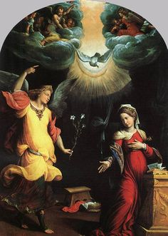 GAROFALO The Annunciation 1550 Tempera on wood Pinacoteca di Brera, Milan