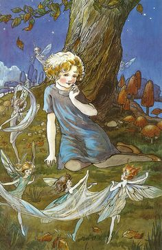 'On warm dark nights I think I see, beneath the weeping willow tree, the fairies dancing in the grass, on tiny feet that fly so fast. The music is the wind that blows, while fairies spin on bare tiptoes, and fireflies jewel up the night, reflecting fairies in their light.' ~C.J. Heck, from 'Dancing Fairies'