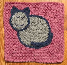 This is a cute, whimsical, kitty block and will add lots of fun to your crochet projects. Make a pillow or an afghan. It will be purr-fect!