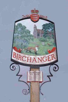 Birchanger, Essex Fairytale Cottage, Storybook Cottage, Pub Signs, Name Signs, Essex England, Town Names, Village People, English Village, Place Names