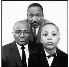 voxsart: 1963. MLK with his father and his son, by Richard...  I would have voted for this man... He would have made an amazing president...