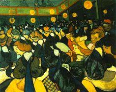 Dance Hall in Arles - 1888, Vincent van Gogh