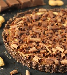 Healthier Peanut Butter Pie – sweetened with just a few tablespoons of honey!