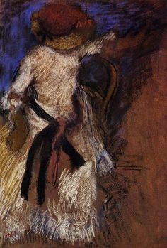 Seated Woman in a White Dress - Edgar Degas