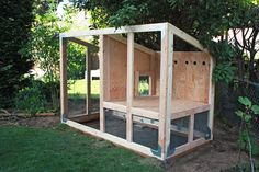 Chicken Coop - You may remember that I posted few weeks ago about our venture into urban chicken raising and the cute little puffballs that got us. Building a chicken coop does not have to be tricky nor does it have to set you back a ton of scratch. Cheap Chicken Coops, Diy Chicken Coop Plans, Portable Chicken Coop, Chicken Coop Designs, Backyard Chicken Coops, Building A Chicken Coop, Chickens Backyard, Simple Chicken Coop, Urban Chicken Coop