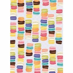 Delightfully decadent wrap for any occasion - Macarons Wrapping Paper roll, pattern, paper sourc, wrap paper, macaroon, papers, macaron wrap, valentine day gifts, wrapping