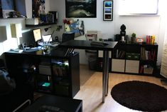 Materials: EXPEDIT, CAPITA, VIKA BYSKE, LACKDescription: It is a relatively simple hack. A LACK coffee table is mounted on a EXPEDIT shelf. The photos should be