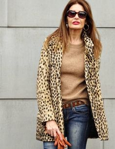 Leopard, Cougar -Animal Print Coats Roar! | Fabulous After 40