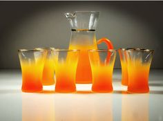 Hey, I found this really awesome Etsy listing at https://www.etsy.com/listing/238911636/blendo-glass-pitcher-and-glass-set