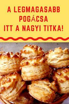Különleges, mert...#pogácsa #pogi#recept #nagyi Bakery Recipes, Cookbook Recipes, Dessert Recipes, Cooking Recipes, Healthy Recipes, Hungarian Desserts, Hungarian Recipes, Serbian Recipes, Smoothie Fruit