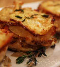 Onion Gruyere Potato Stacks