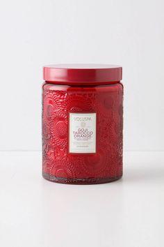 Voluspa Large Glass Jar Candle Goji Tarocco Orange
