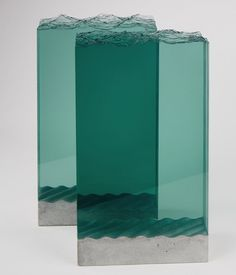 objet, glass and concrete, ocean, sea