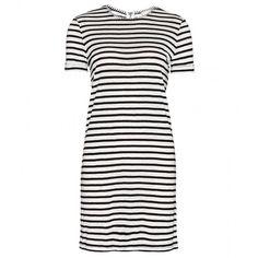 Alice + Olivia Striped Dress ($165) ❤ liked on Polyvore featuring dresses, mekot, robe, vestidos, white, white dress, alice+olivia dresses, stripe dress, white stripe dress and alice + olivia