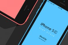 This is the flat design iPhone 5C psd version of our mockups. We have included both horizontal and vertical variation to...