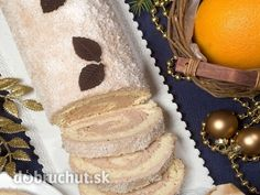 Kokosová roláda -  Na plech položíme papier na pečenie. Oddelíme bielky a žĺtky. Bielka šľaháme s trochou cukru do peny. Žĺtka, múku,... Swiss Cake, Czech Recipes, Nutella, Goodies, Rolls, Cooking Recipes, Baking, Breakfast, Sweet