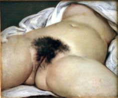 Gustave Courbet's cheekily titled painting: L'Origine du monde (The Origin of the World)