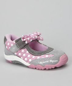 Pink & Gray Gym Class Disney™ Minnie Mouse Mary Jane Sneaker by Stride Rite on #zulily