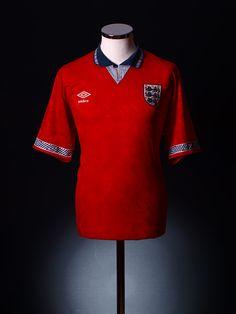 1990-93 England Away Shirt L Goalkeeper Shirts, Classic Football Shirts, European Championships, Polo Ralph Lauren, Soccer Jerseys, Mens Tops, Fashion, Sport, Moda