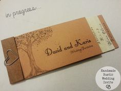 A Rustic Cheque booklet Wedding invite. Practical Ever After | Wedding & Lifestyle blog