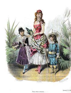 Иллюстрации журнала мод 1886г. La Mode illustrèe 1886 1880s Fashion, Victorian Fashion, Vintage Fashion, Plate Drawing, Victorian Fancy Dress, Fancy Dress Ball, Antique Clothing, Gravure, Fashion Plates