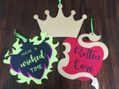 Set of 3 Descendants Inspired Birthday Party Decorations, Descendants Party Signs, Large Descendants Hanging Door Signs Birthday Party Decorations, Birthday Parties, Party Signs, Door Signs, Descendants, Inspired, Christmas Ornaments, Holiday Decor, Inspiration