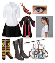 """""""The Jewel of His Life: Hogwarts Uniforms"""" by capeles on Polyvore featuring beauty, Charlotte Russe, Steffen Schraut, Soda and lululemon"""