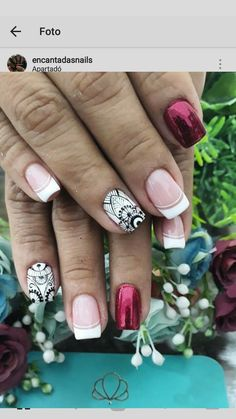 Natural Nail Designs, Short Nail Designs, Nail Art Designs, Nails Design, Hair And Nails, My Nails, Nail Art Techniques, Paws And Claws, Chrome Nails