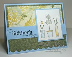 stampin up card ideas | Blooming with Love Mother's Day Card :: Andrea Walford - Artist ...