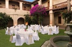 A lovely wedding party display at the Camino Real Oaxaca in Central Mexico