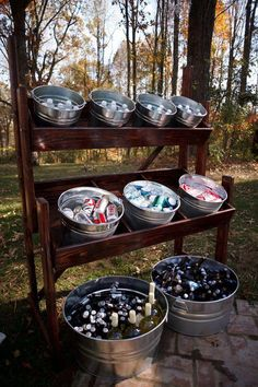 Tarabula wedding 2 the couple was able to use the venues alcohol liability insurance policy and save money by bringing in their own beer wine and champagne 25 creative outdoor wedding drink station and bar ideas Perfect Wedding, Fall Wedding, Dream Wedding, Unique Wedding Food, Diy Wedding Bar, Drinks At Wedding, Pizza At Wedding, Wedding Food Bar Ideas, Wedding Pallet Signs