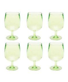Loving this Kiwi Stacky All-Purpose Stem Glass - Set of Six on #zulily! #zulilyfinds