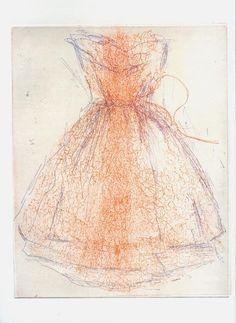 Hagit Shahal. Etching, 25/20 cm,
