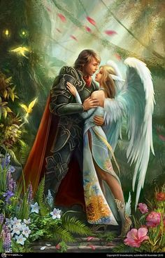 ✿Fairies, warrior, angel in a fantasy setting