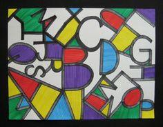 Alphabet art after Jasper Johns. Great blog full of ideas and examples: Teach Kids Art